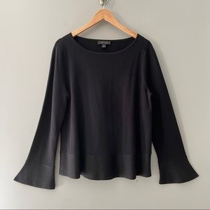 Ann Taylor Bell Sleeve Sweater Size Large Black